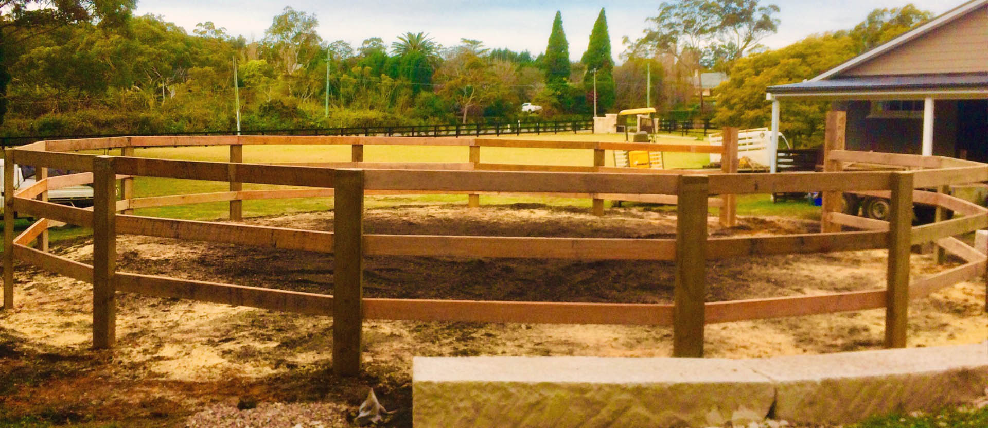 Timber Fence Horse Arena