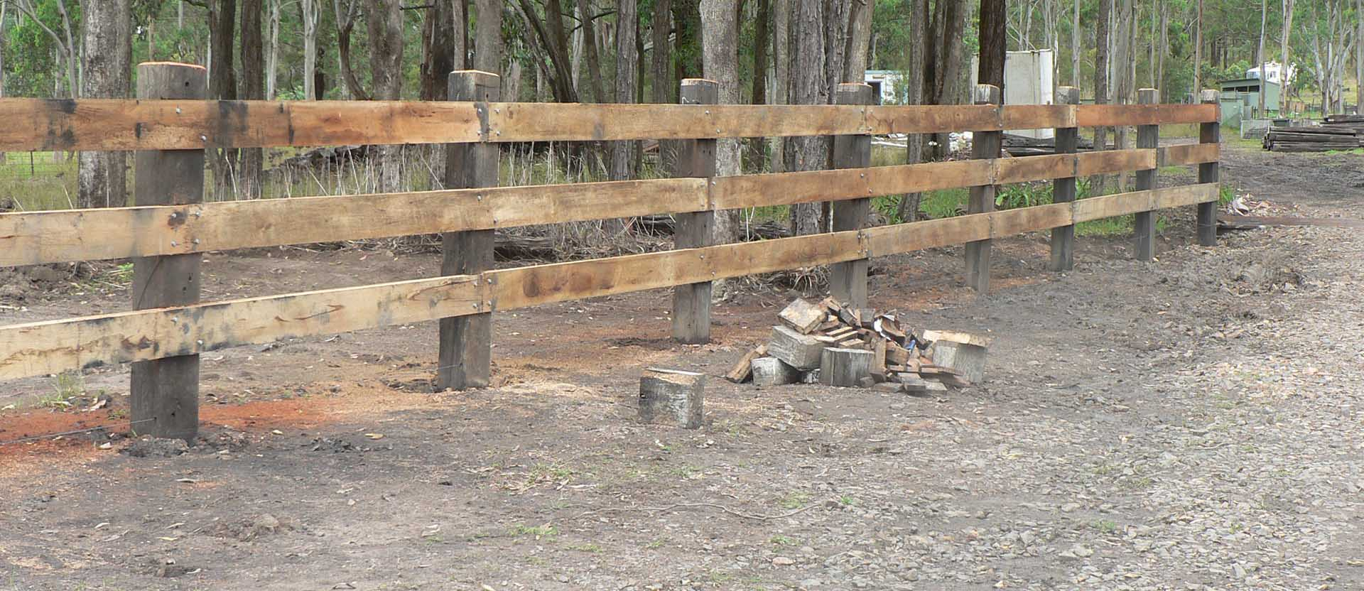 Timber Post Rail Fence